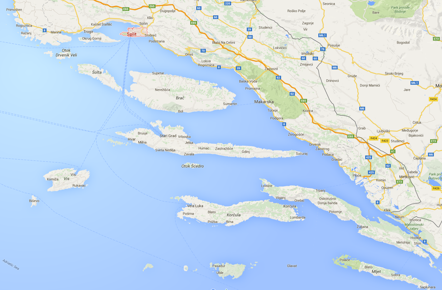 Itinerary  Croatia Cruise Holidays
